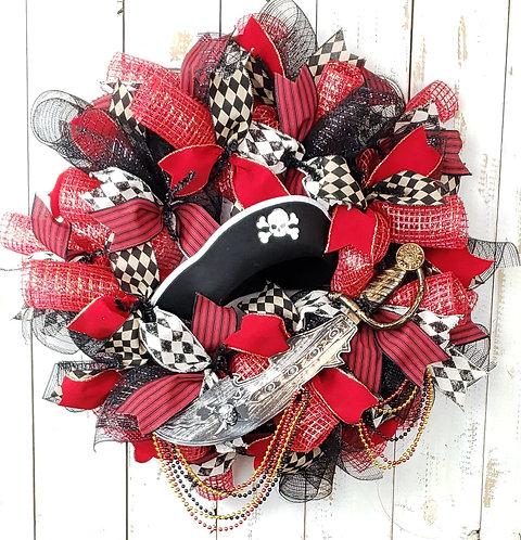 Gasparilla Wreath, Gasparilla Pirate Hat Wreath, Gasparilla Decor