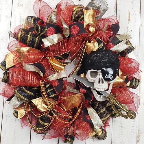 Gasparilla Wreath, Gasparilla Skull and Dagger Wreath
