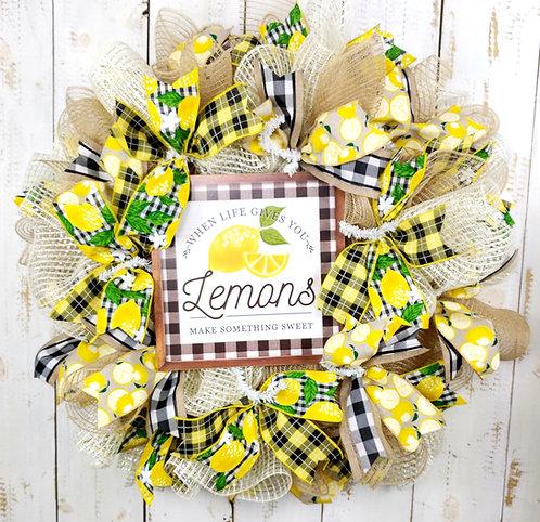 When Life Gives You Lemons Mesh Wreath