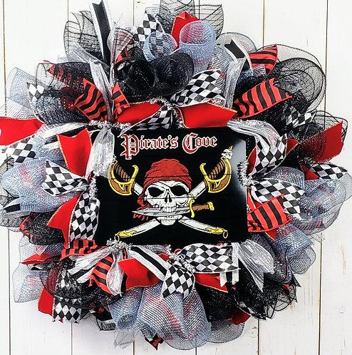 Gasparilla Glitzy Pirate Wreath