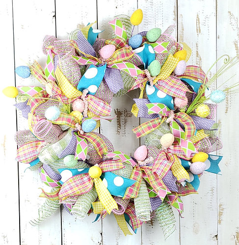 Bright Easter Egg Wreath