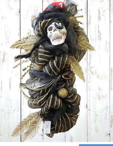 Gasparilla Swag, Gasparilla Skull Wreath, Gasparilla Wreath