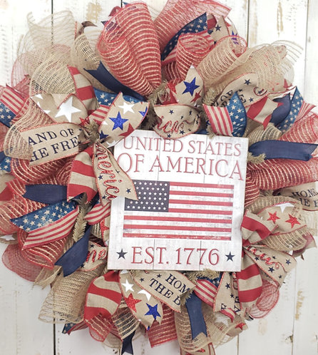 United States of America Wreath