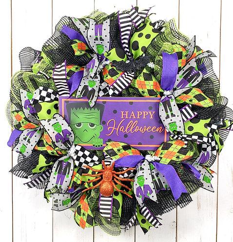 Frankenstein Halloween Wreath