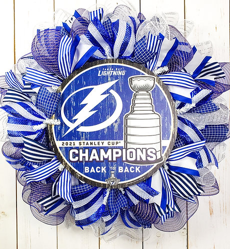 Tampa Bay Lightning Stanley Cup Champions Wreath