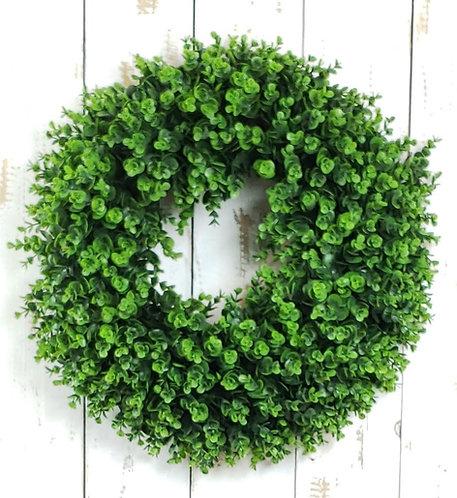 Realistic Artificial Boxwood Wreath