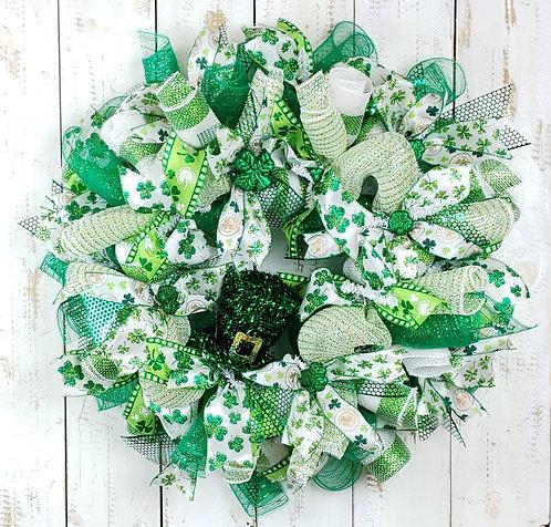 St Paddy's Wreath with Leprechaun Hat