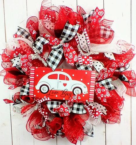 Love Bug Valentine's Day Wreath