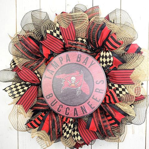 Tampa Bay Buccaneers Wreath | Tampa Bay Bucs Wreath | Tampa Bucs Wreath