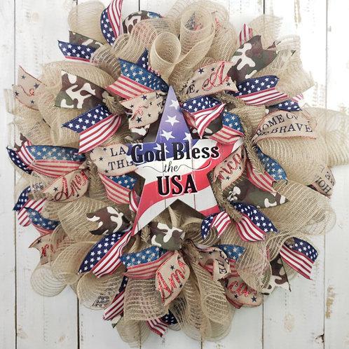 God Bless the USA Wreath