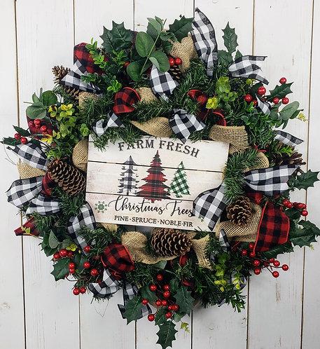 Farm Fresh Pine Holiday Wreath