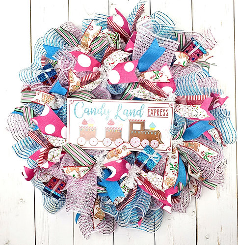 Candy Land Mesh Wreath