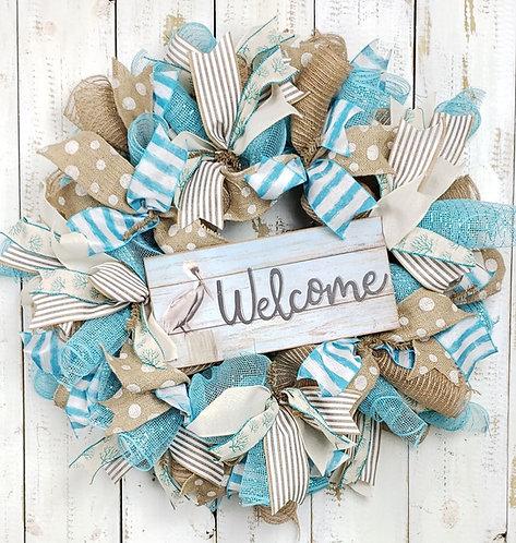Pelican Welcome Wreath