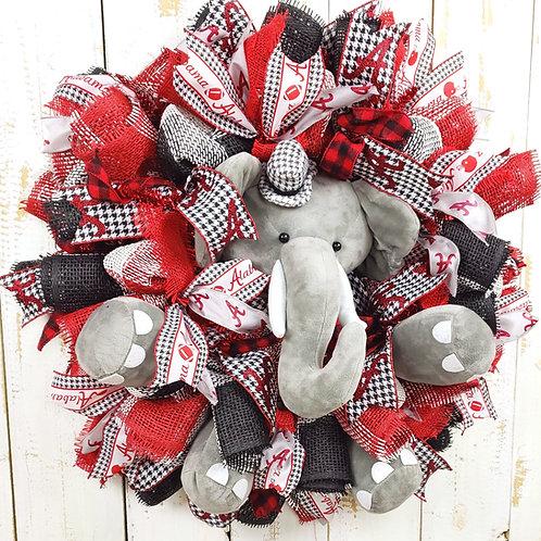 "Alabama ""Big Al"" Elephant Wreath"