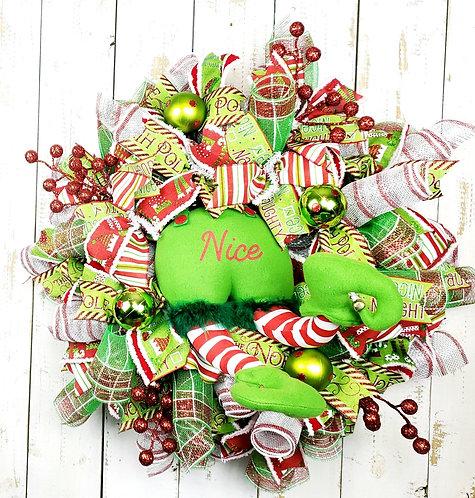 NIce- Elf Mesh Wreath
