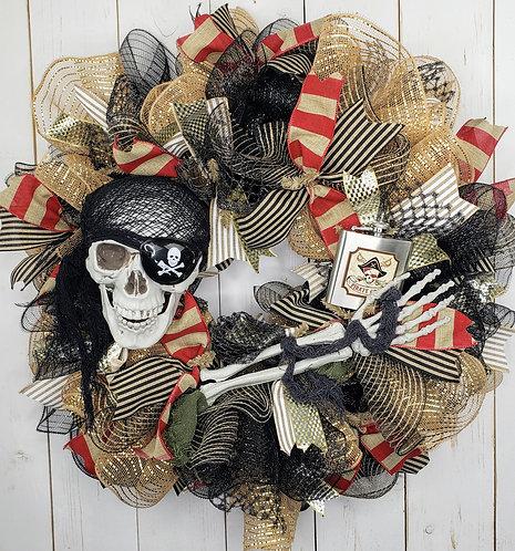 Gasparilla Skull and Flask Wreath, Gasparilla Wreath