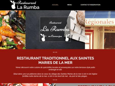 Site web Restaurant La Rumba