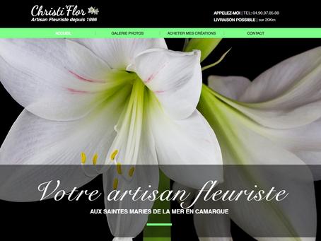 """Création de site web """"Christi'flor"""""""