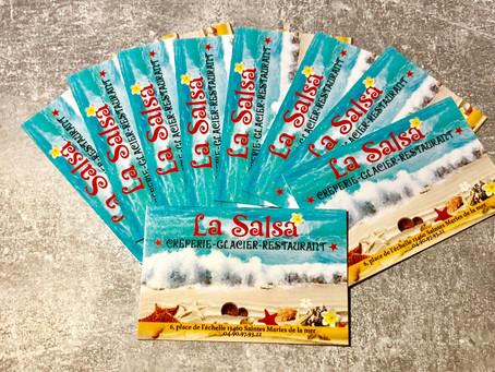 """Cartes de visite """"La Salsa"""""""