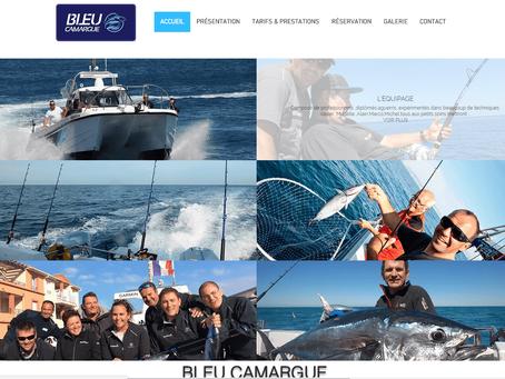 """Création de site internet """"Bleu Camargue"""""""