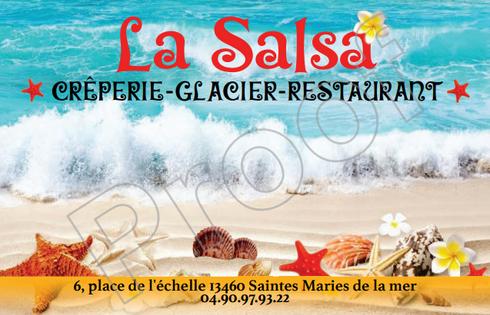 cartes de visite brasserie la salsa