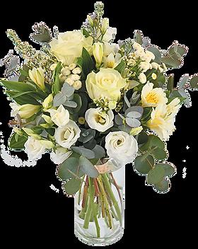 bouquet de fleur paradis blanc | christi