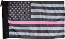 ★USA Subdued Thin Pink Line Flag★