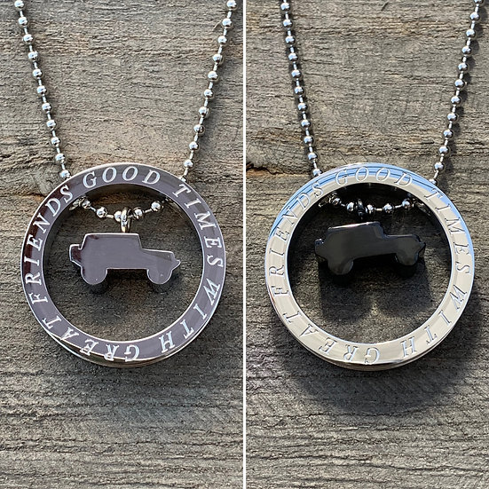 Jeep Floating Necklace (2 colors to choose from)