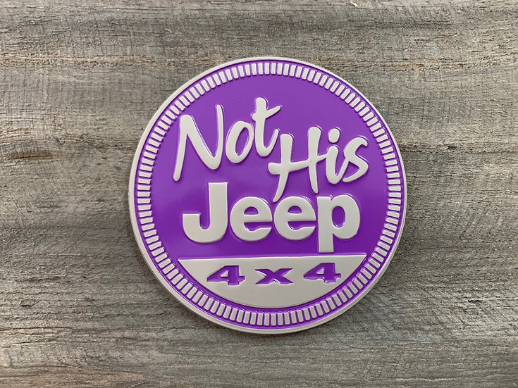 Badge - Not His Jeep (Purple)