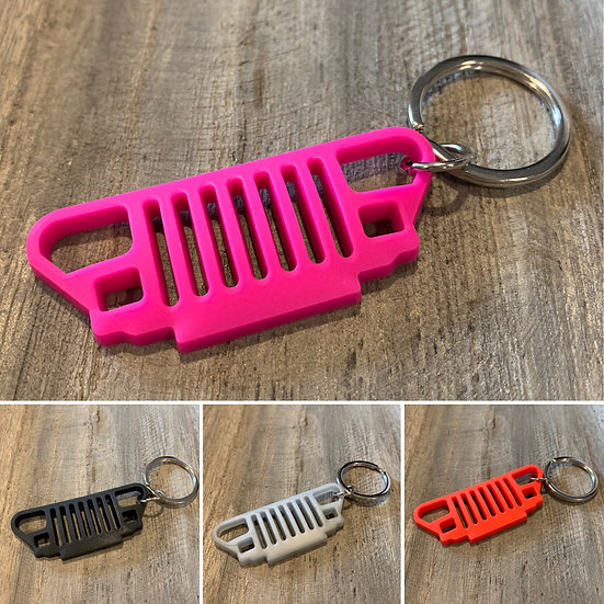 YJ Rubber Key Chain (4 Colors to Chose From)