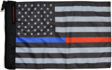 ★USA Subdued Thin Blue-Red Line Flag★