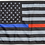 Thumbnail: ★USA Subdued Thin Blue-Red Line Flag★