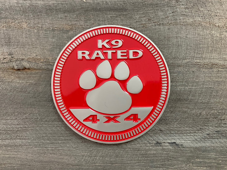 Badge - K9 Rated (Red)