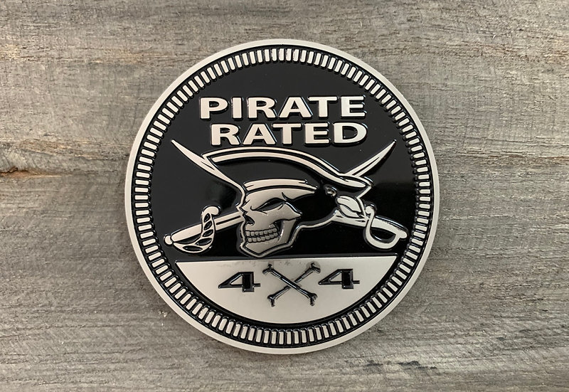 Badge - Pirate Rated (Black)