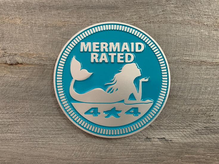 Badge - Mermaid Rated (Teal)