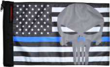 ★USA Subdued Thin Blue Line Punisher Flag★
