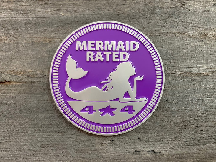 Badge - Mermaid Rated (Purple)