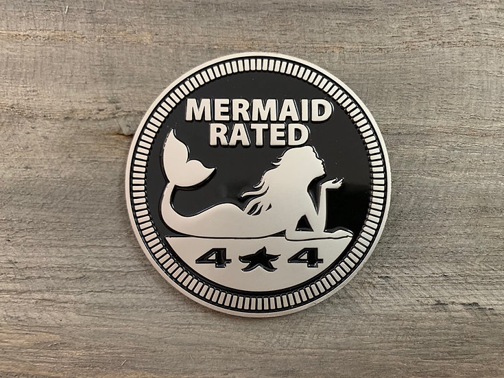 Badge - Mermaid Rated (Black)