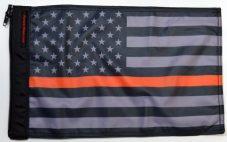 ★USA Subdued Thin Orange Line Flag★