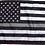Thumbnail: ★USA Subdued Thin Grey Line Flag★
