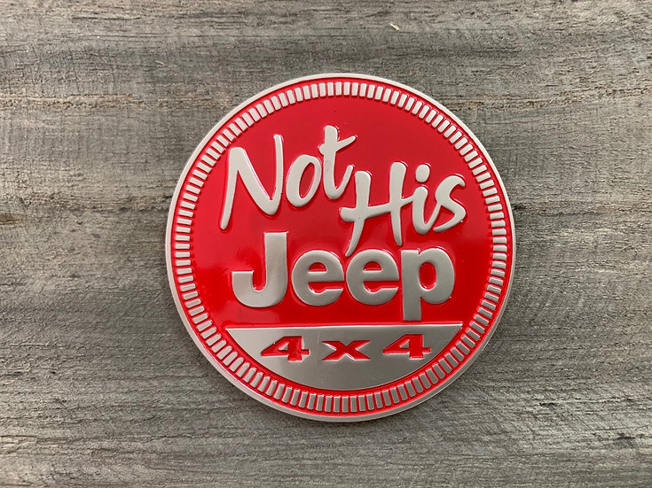 Badge - Not His Jeep (Red)