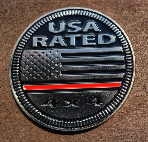 Badge - USA Thin Red Line Rated