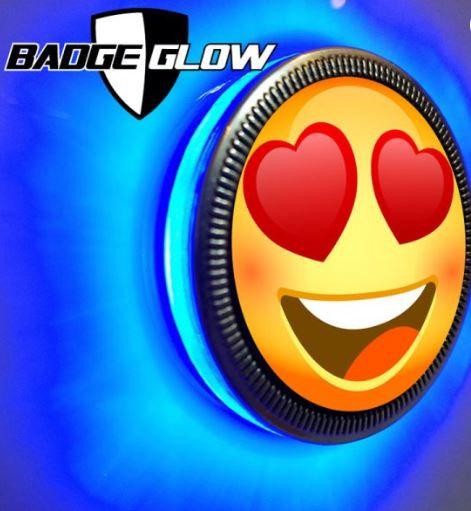 Badge Glow - Blue