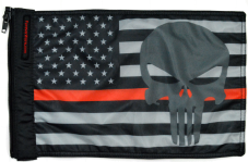 ★USA Subdued Thin Red Line Punisher Flag★