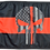 Thumbnail: ★Thin Red Line Punisher Flag★