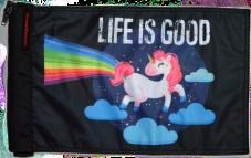 ★Life Is Good Unicorn Flag★