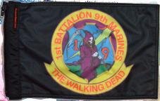 ★1st Battalion 9th Marines The Walking Dead Flag★