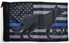 ★USA Subdued Thin Blue Line K9 Flag★