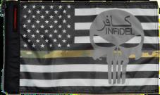★USA Subdued Thin Camo Line Infidel Flag★