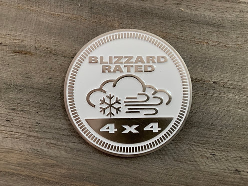 Badge - Blizzard Rated (White)